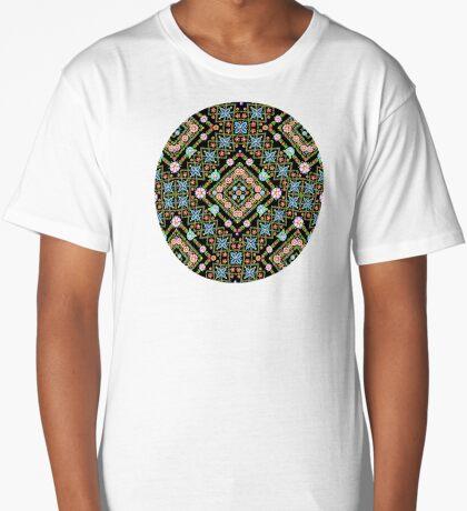 Millefiori Floral Lattice Long T-Shirt