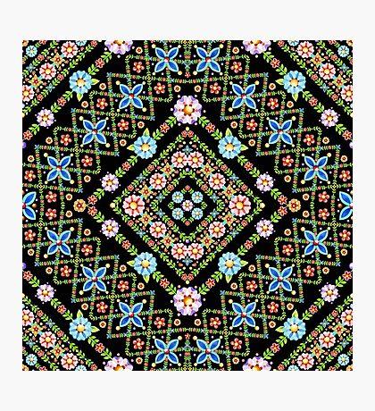 Millefiori Floral Lattice Photographic Print