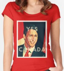 Justin Trudeau Yes We Canada Women's Fitted Scoop T-Shirt