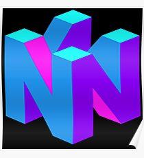Nintendo 64 N logo Poster