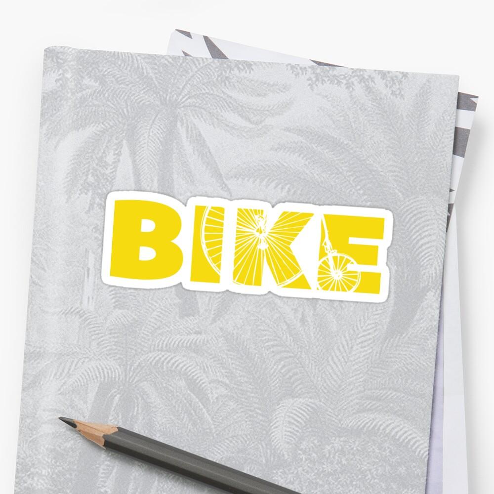 Bike typography sticker by sledgehammer