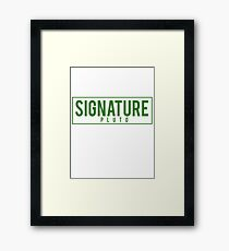 SIGNATURE PLUTO GREEN Framed Print