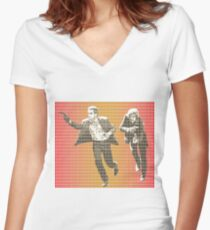 Butch and Sundance Women's Fitted V-Neck T-Shirt