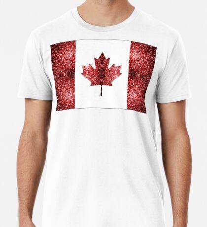 Canada flag red sparkles Men's Premium T-Shirt