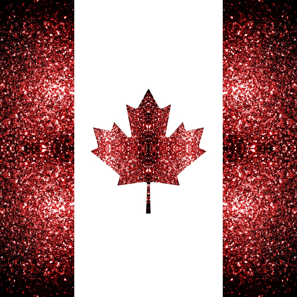 Canada flag red sparkles by PLdesign