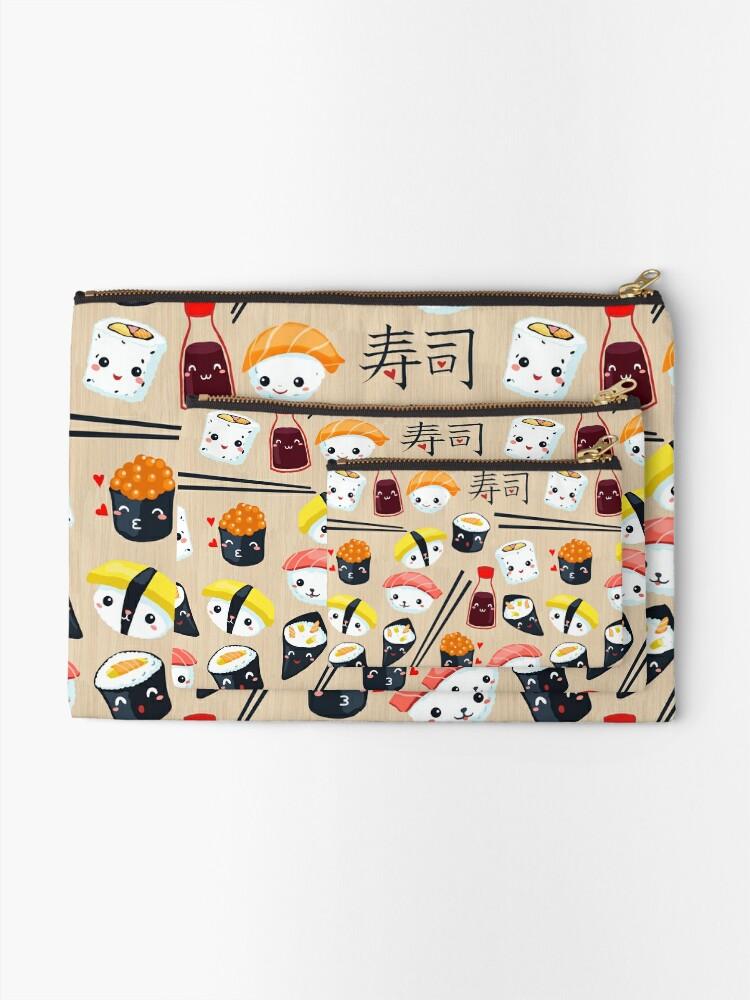 Alternate view of Kawaii Sushi Zipper Pouch