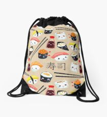 Kawaii Sushi Drawstring Bag