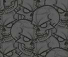 Bed Of Skulls - Dark Grey by Bobby Baxter