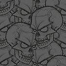 Bed Of Skulls - Dark Grey by Bobby Baxter