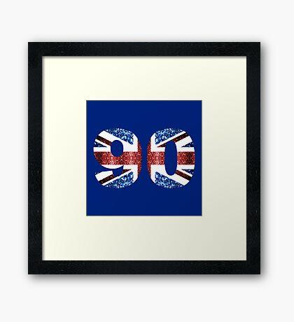 Sparkly flag of United Kingdom UK number 90 Framed Print