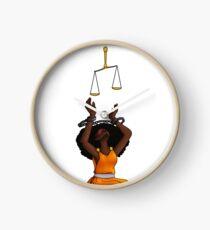 Justice Shackled Clock
