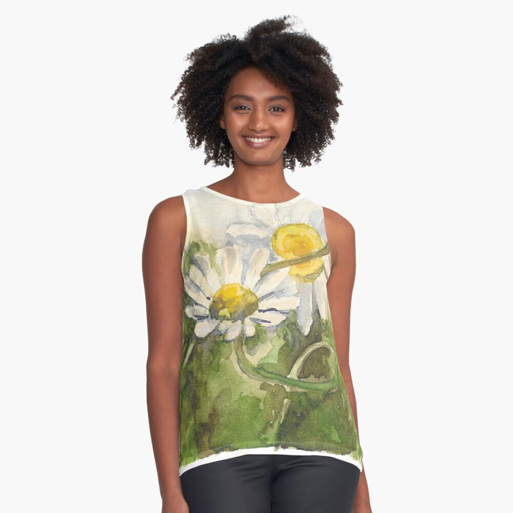 Chamomile  Contrast Tank Front