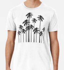 Exotische tropische Schwarzweiss-Palmen Männer Premium T-Shirts