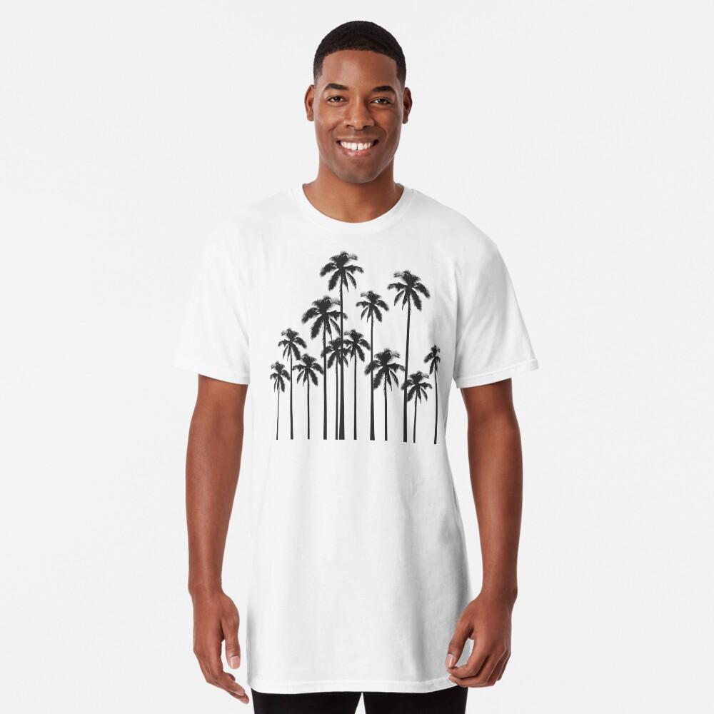 Exotische tropische Schwarzweiss-Palmen Longshirt