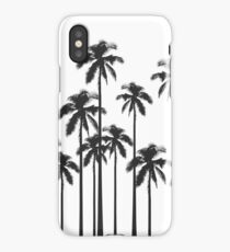 Black and White Exotic Tropical Palm Trees iPhone Case/Skin