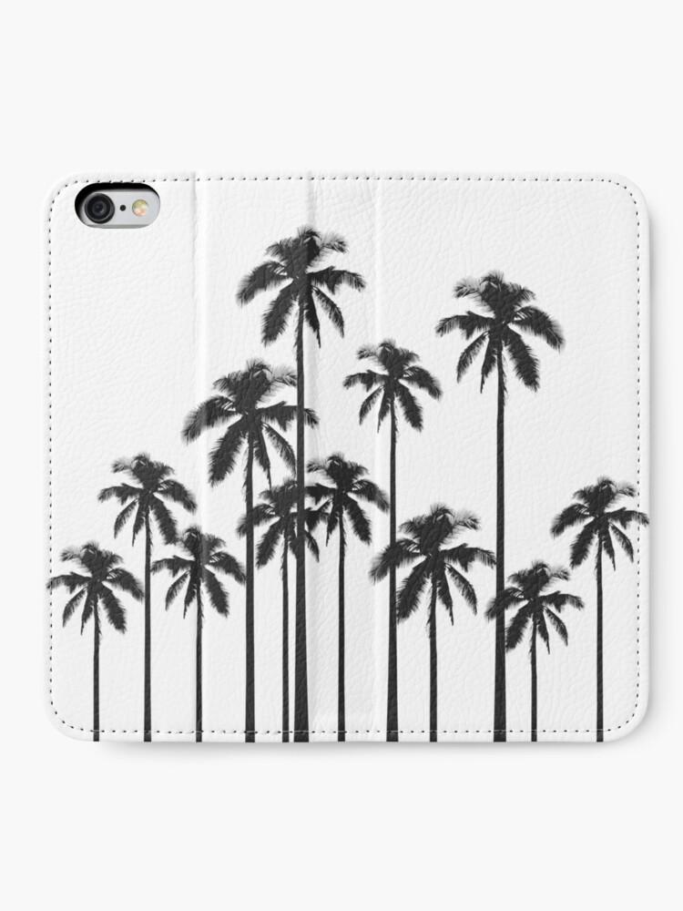 Alternative Ansicht von Exotische tropische Schwarzweiss-Palmen iPhone Flip-Case