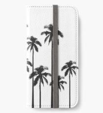 Exotische tropische Schwarzweiss-Palmen iPhone Flip-Case/Hülle/Skin