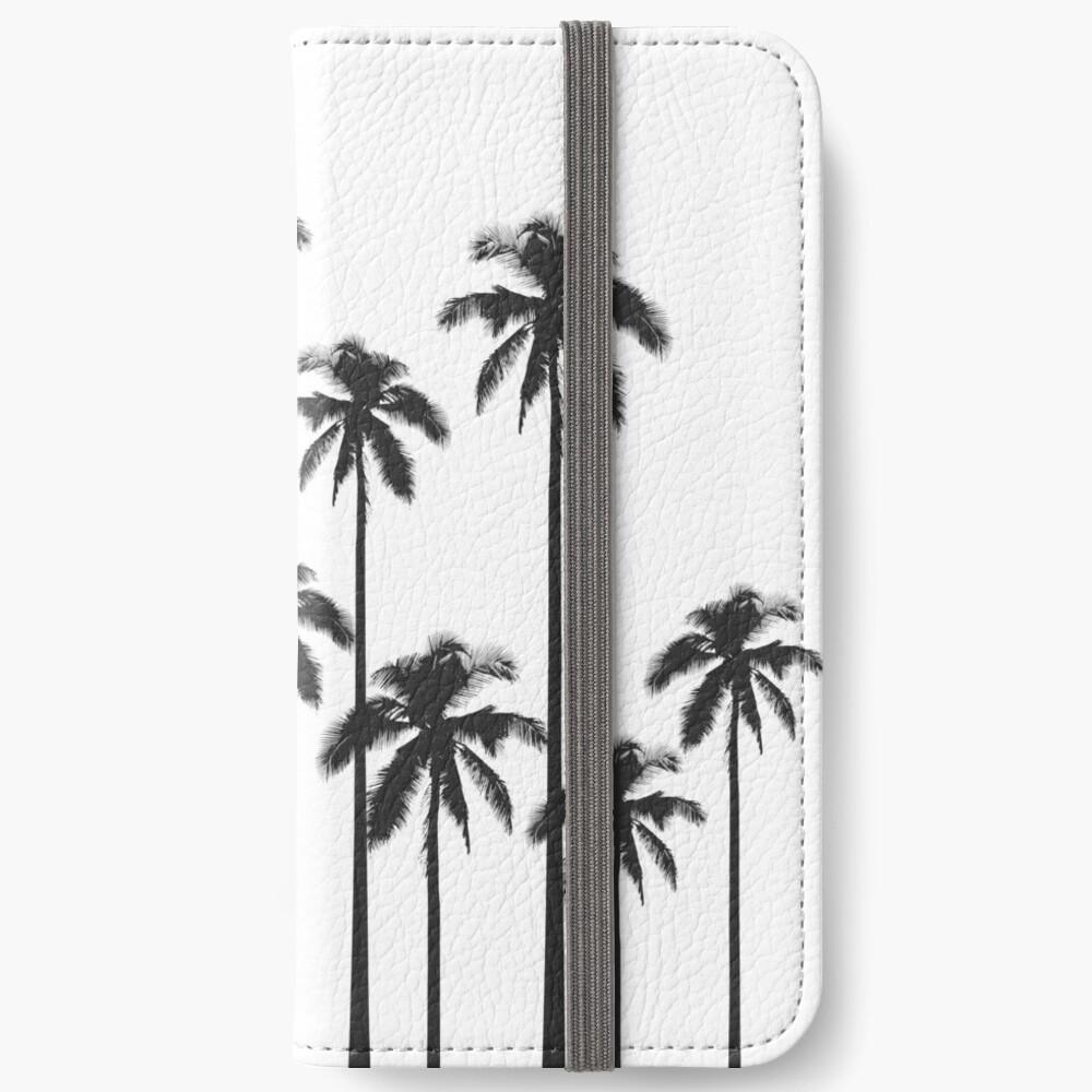 Exotische tropische Schwarzweiss-Palmen iPhone Flip-Case