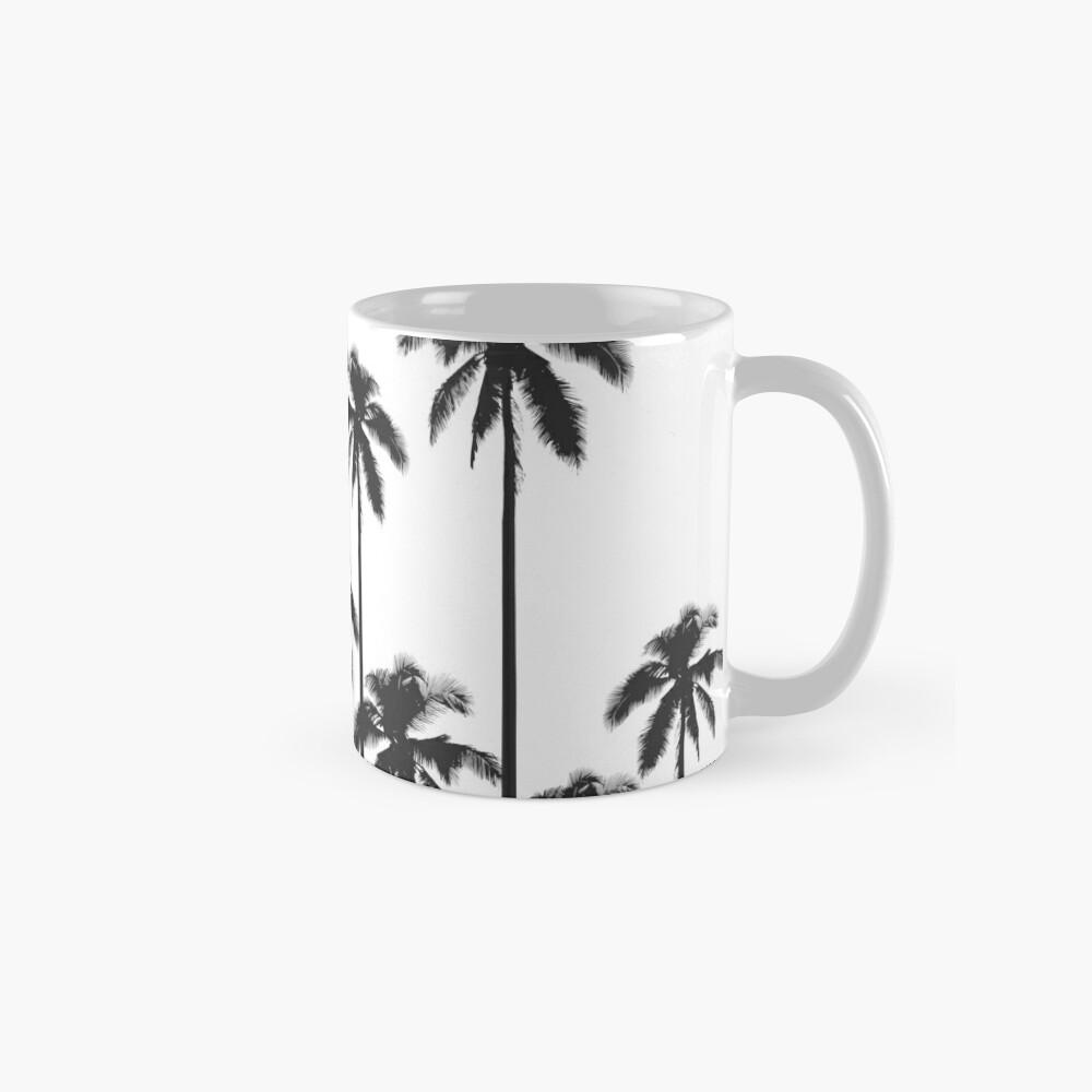 Black and White Exotic Tropical Palm Trees Mug