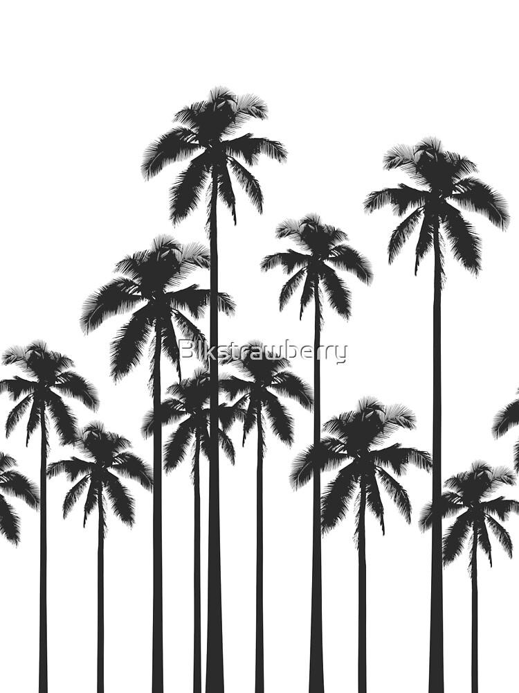 Palmeras tropicales exóticas en blanco y negro de Blkstrawberry
