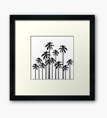 Lámina enmarcada Palmeras tropicales exóticas en blanco y negro