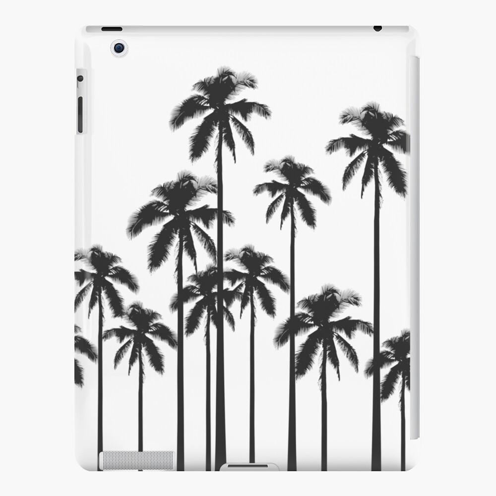 Exotische tropische Schwarzweiss-Palmen iPad-Hülle & Skin