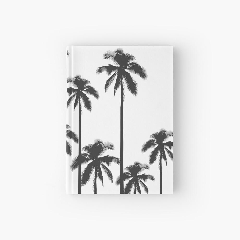 Exotische tropische Schwarzweiss-Palmen Notizbuch