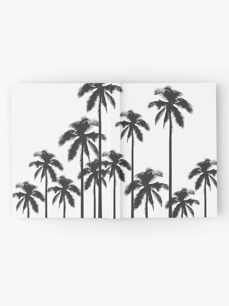 Alternative Ansicht von Exotische tropische Schwarzweiss-Palmen Notizbuch