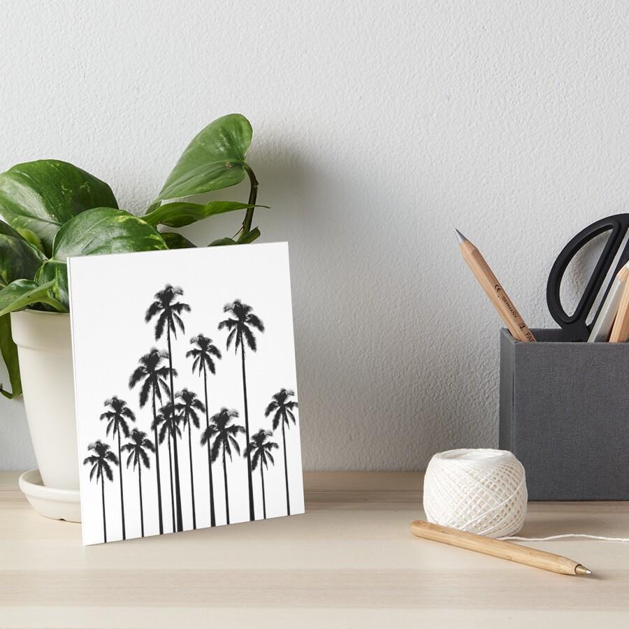 Palmeras tropicales exóticas en blanco y negro Lámina rígida