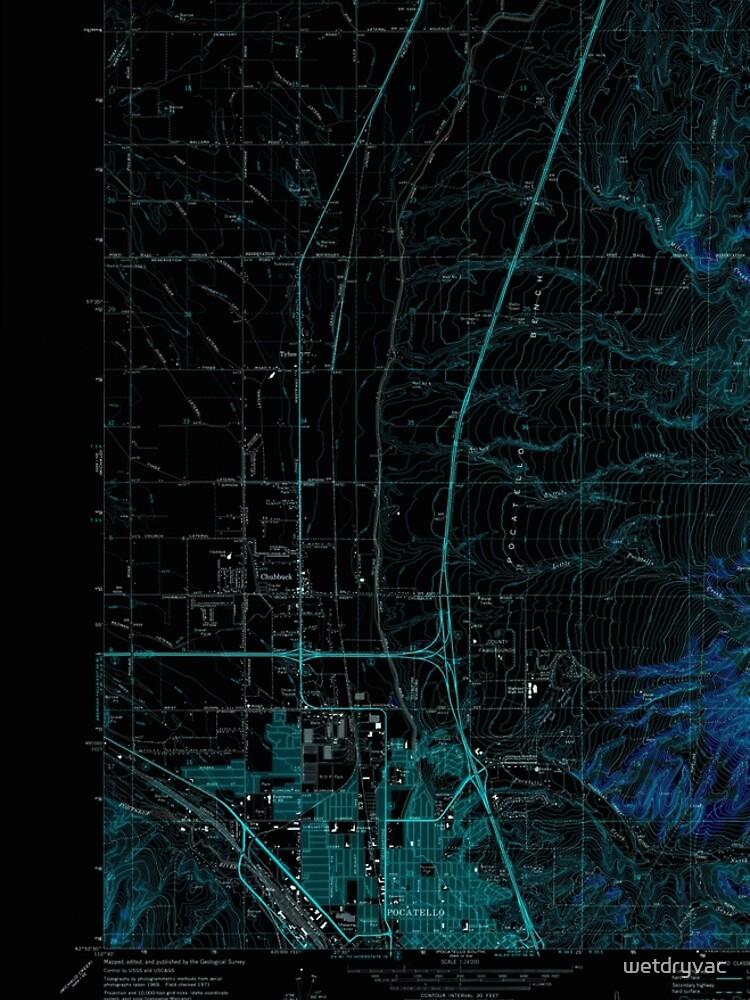 USGS TOPO Map Idaho ID Pocatello North 237673 1971 24000 Inverted von wetdryvac