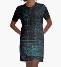 USGS TOPO Map Idaho ID Pocatello North 237673 1971 24000 Inverted T-Shirt Kleid