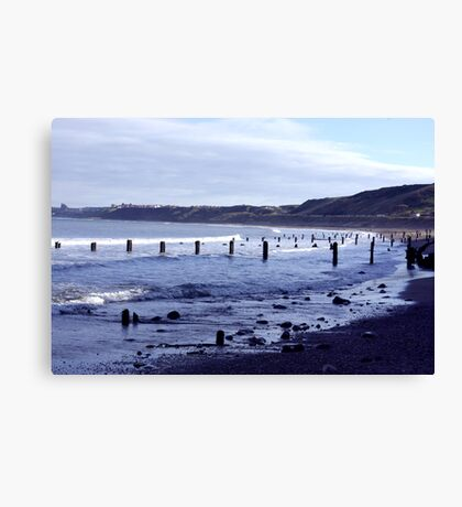 Groynes at Sandsend Canvas Print