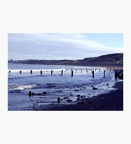 Groynes at Sandsend Photographic Print