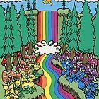 Regenbogen-Wasserfall von Brett Gilbert
