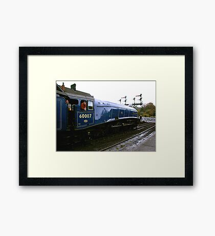 About to leave Framed Print