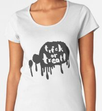 Trick or Treat in a Speech Bubble Women's Premium T-Shirt