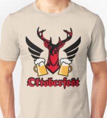 Hirsch Flügel Mass Bier Oktoberfest Wiesn Prost  T-Shirt