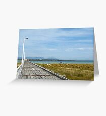 Historic Long Jetty - Port Welshpool Greeting Card