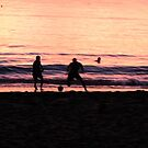 Football on The Beach by LeonidasBratini