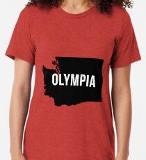Olympia, Washington-Schattenbild Vintage T-Shirt
