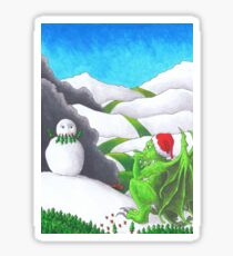 Great Cthulhu Hates Christmas - Self-portrait in Snow Sticker