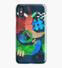 abstrakte Stickerei iPhone-Hülle & Cover