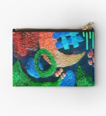 abstract embroidery Studio Pouch