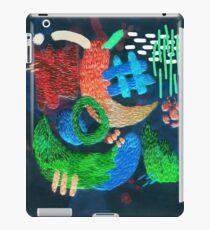 abstrakte Stickerei iPad-Hülle & Skin