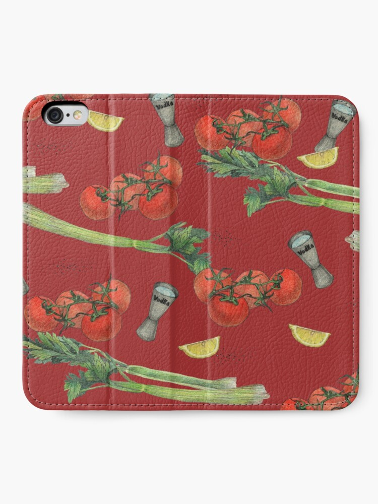 Alternate view of bloody mary recipe iPhone Wallet