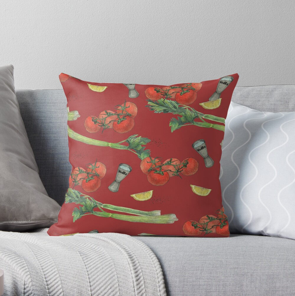 bloody mary recipe Throw Pillow