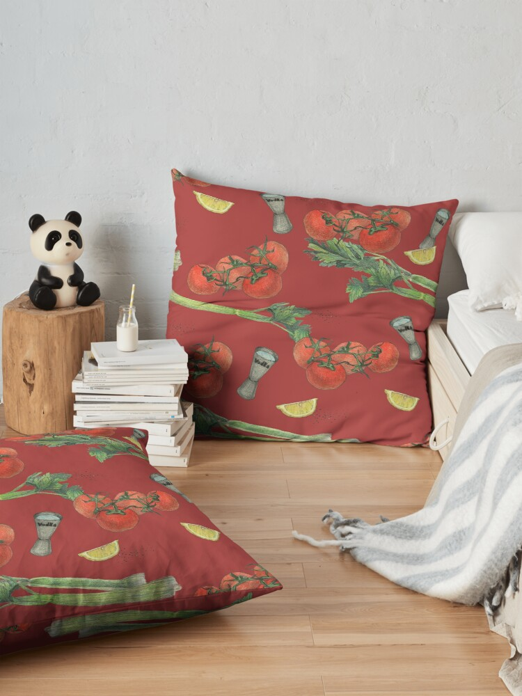 Alternate view of bloody mary recipe Floor Pillow