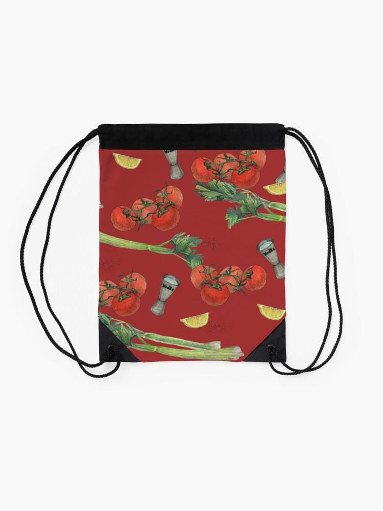 Alternate view of bloody mary recipe Drawstring Bag