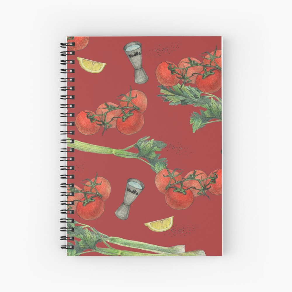 bloody mary recipe Spiral Notebook