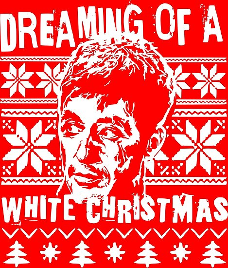 Scarface Christmas Sweater Print Posters By Mrilladesigns Redbubble